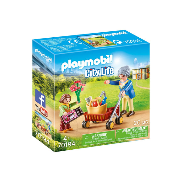 Playmobil Grandmother with Child-70194-Animal Kingdoms Toy Store