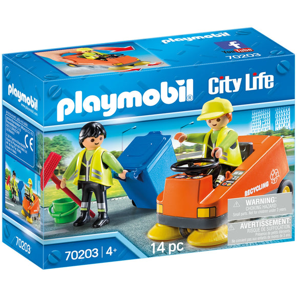 Playmobil City Life Street Sweeper-70203-Animal Kingdoms Toy Store
