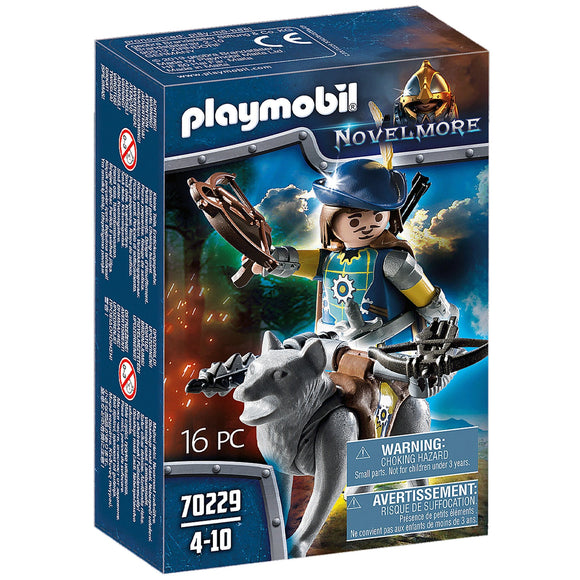 Playmobil Novelmore Crossbowman with Wolf-70229-Animal Kingdoms Toy Store