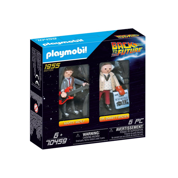 Playmobil Back to the Future Marty Mcfly and Dr. Emmett Brown