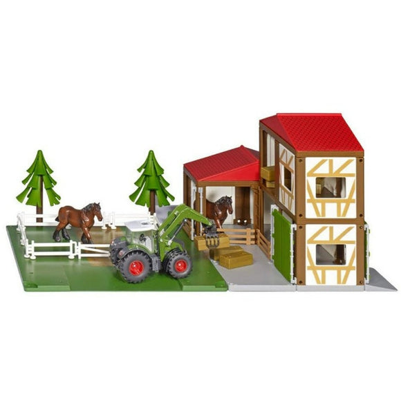 Siku World Horse Stable with Tractor & Horses-SKU5609-Animal Kingdoms Toy Store