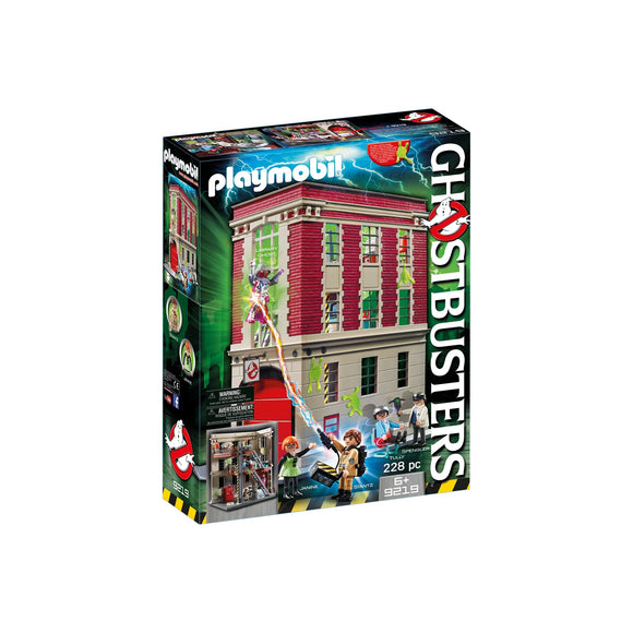 Playmobil Ghostbuster Firehouse-9219-Animal Kingdoms Toy Store