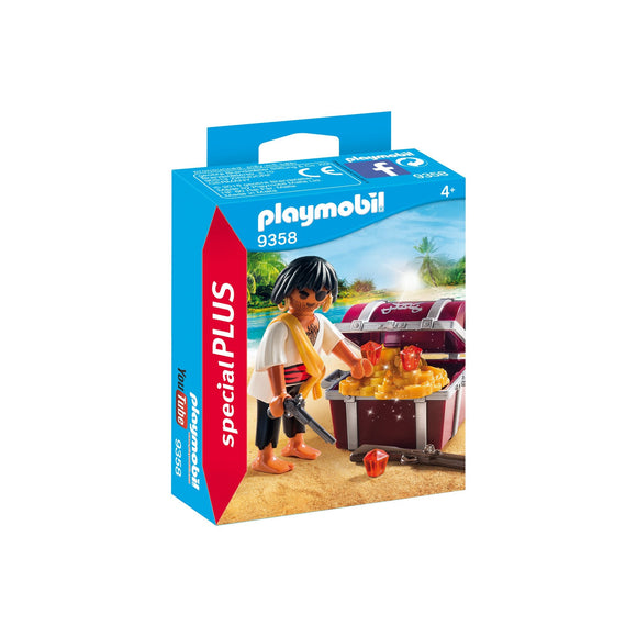 Playmobil Special Plus Pirate With Treasure Chest-9358-Animal Kingdoms Toy Store
