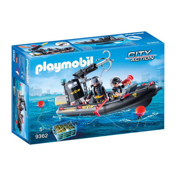 Playmobil Tactical Unit Boat-9362-Animal Kingdoms Toy Store