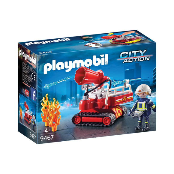 Playmobil City Action Fire Water Cannon-9467-Animal Kingdoms Toy Store