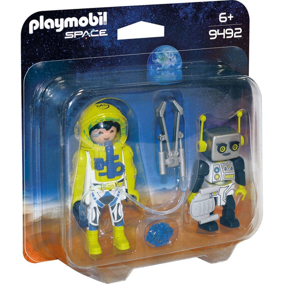 Playmobil Astronaut & Robot Duo Pack-9492-Animal Kingdoms Toy Store