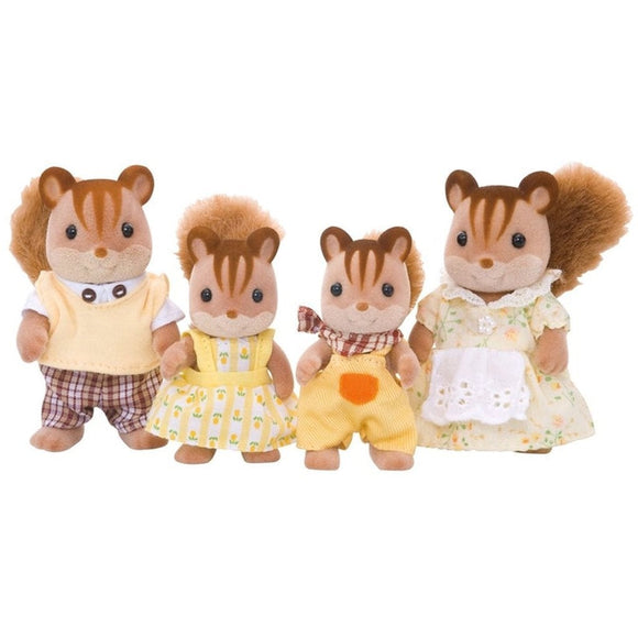 Sylvanian Families Walnut Squirrel Family-4172-Animal Kingdoms Toy Store