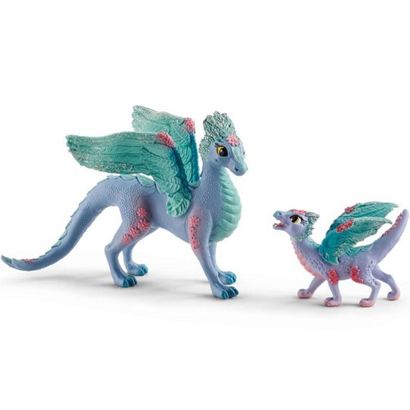 Schleich Blossom dragon mother and baby - AnimalKingdoms.co.nz