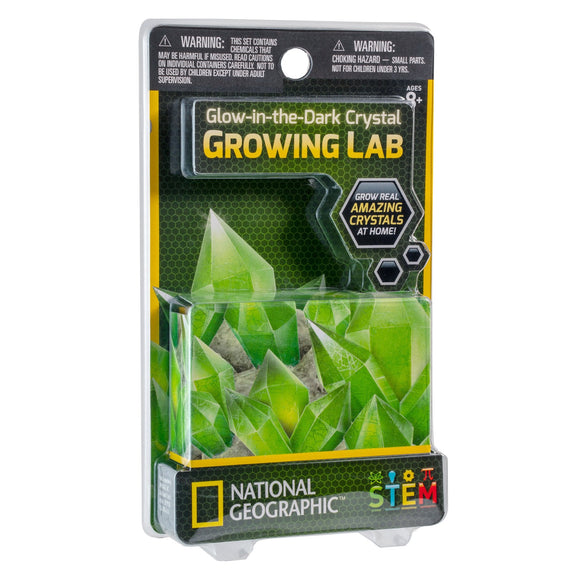 National Geographic - Crystal Growing Lab Glow In The Dark-Animal Kingdoms Toy Store