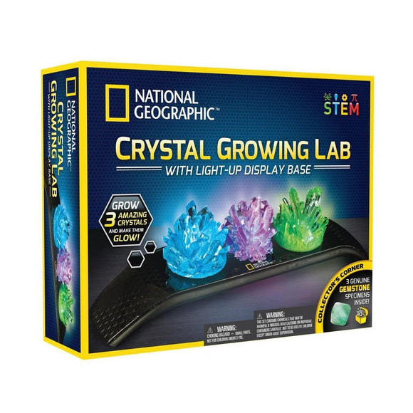 National Geographic Light Up Crystal Growing Kit-NGLITCRYSTAL-Animal Kingdoms Toy Store