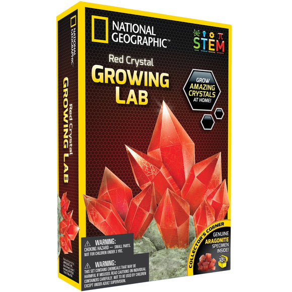 National Geographic - Red Crystal Growing Lab-Animal Kingdoms Toy Store