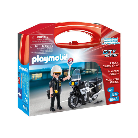 Playmobil Police Carry Case-5648-Animal Kingdoms Toy Store