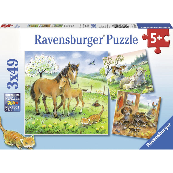 Ravensburger Cuddle Time Puzzle 3x49pc-RB08029-8-Animal Kingdoms Toy Store