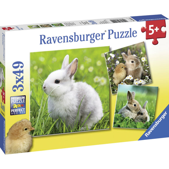 Ravensburger Cute Bunnies Puzzle 3x49pc-RB08041-0-Animal Kingdoms Toy Store