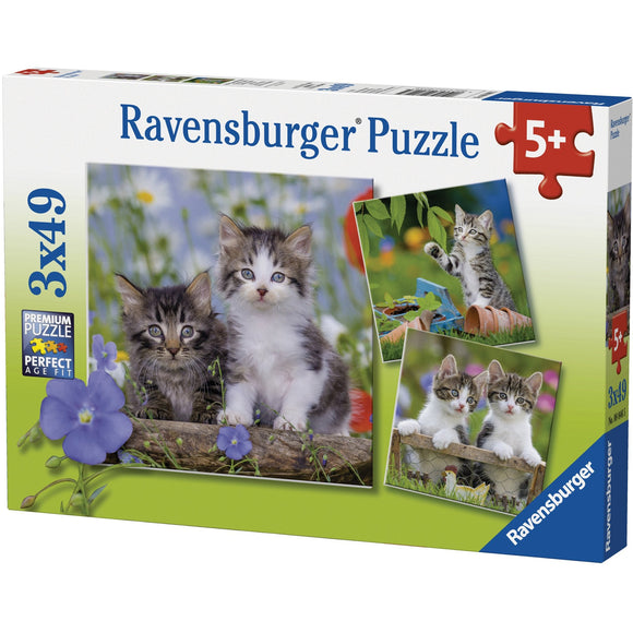 Ravensburger Kittens Puzzle 3x49pc-RB08046-5-Animal Kingdoms Toy Store