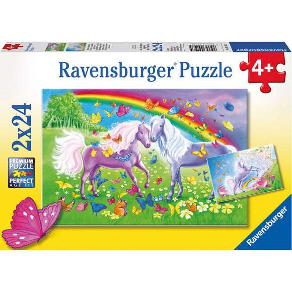 Ravensburger Rainbow Horses Puzzle 2x24pc-RB09193-5-Animal Kingdoms Toy Store