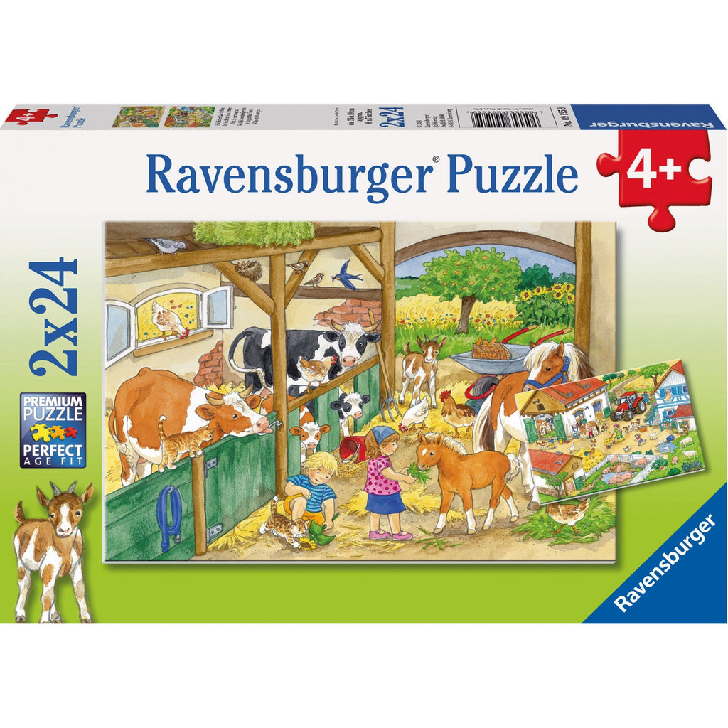 Ravensburger Merry Country Life Puzzle 2x24pc