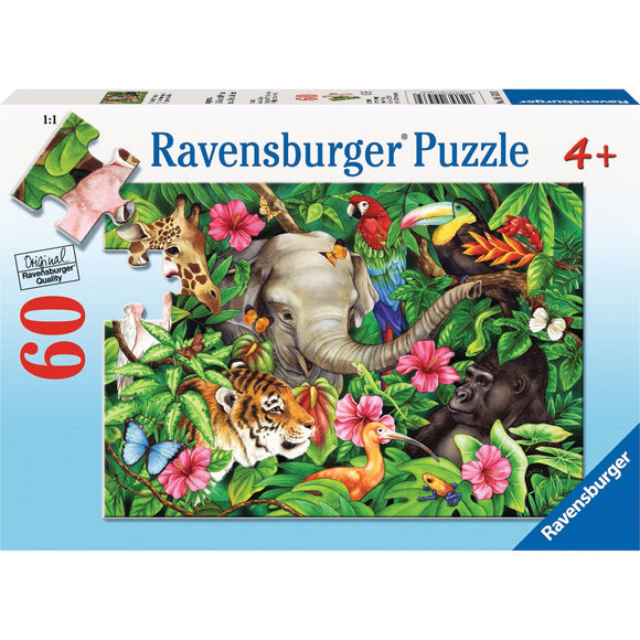 Ravensburger Tropical Friends Puzzle 60pc - AnimalKingdoms.co.nz