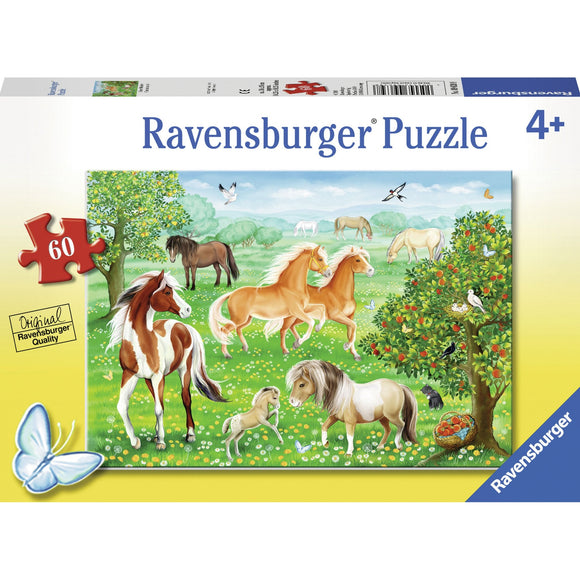 Ravensburger Mustang Meadow Puzzle 60pc-RB09639-8-Animal Kingdoms Toy Store
