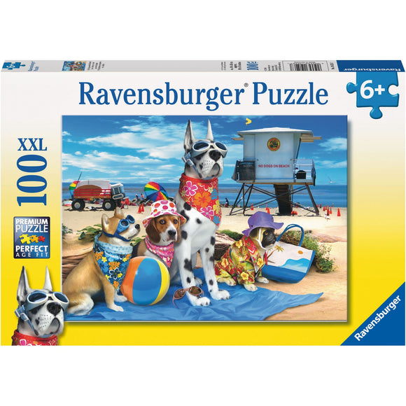 Ravensburger No Dogs on the Beach Puzzle 100pc-RB10526-7-Animal Kingdoms Toy Store