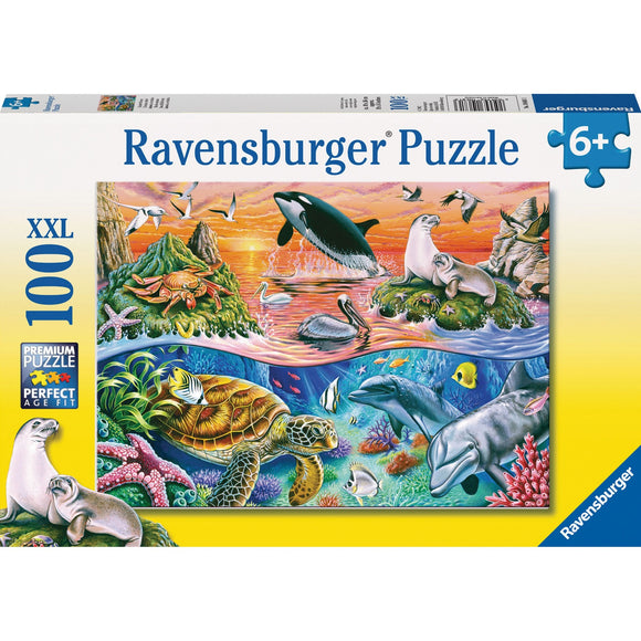 Ravensburger Beautiful Ocean Puzzle 100pc-RB10681-3-Animal Kingdoms Toy Store