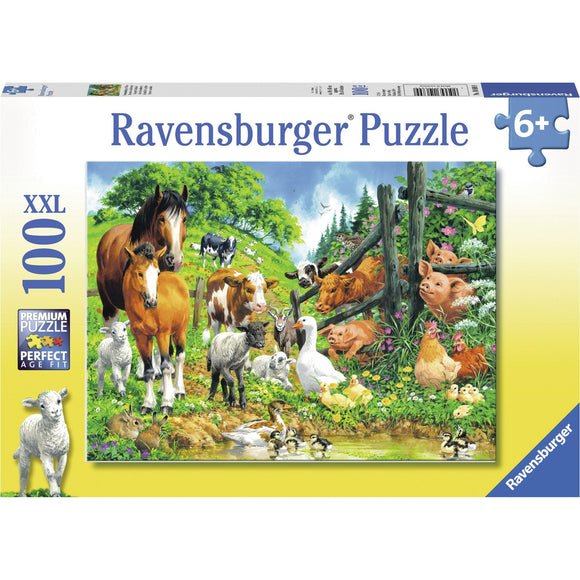 Ravensburger Animal Get Together Puzzle 100pc-RB10689-9-Animal Kingdoms Toy Store