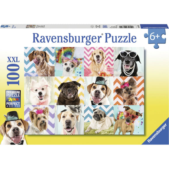 Ravensburger Doggy Disguise Puzzle 100pc-RB10870-1-Animal Kingdoms Toy Store