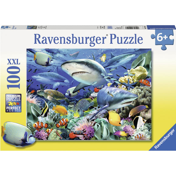 Ravensburger Reef of the Sharks Puzzle 100pc - AnimalKingdoms.co.nz