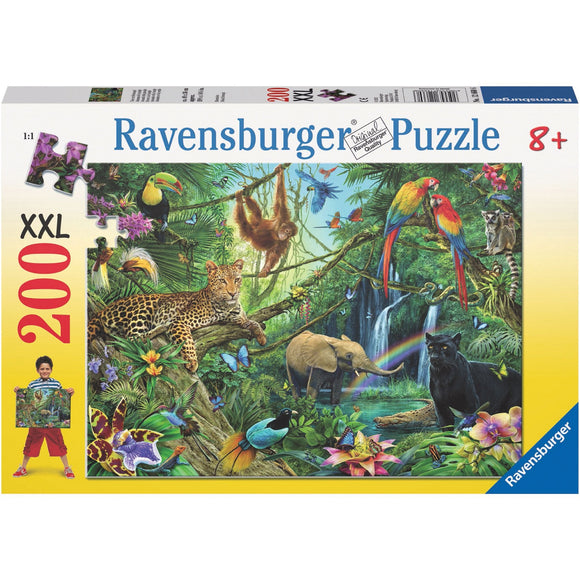 Ravensburger Animals in the Jungle Puzzle 200pc-RB12660-6-Animal Kingdoms Toy Store
