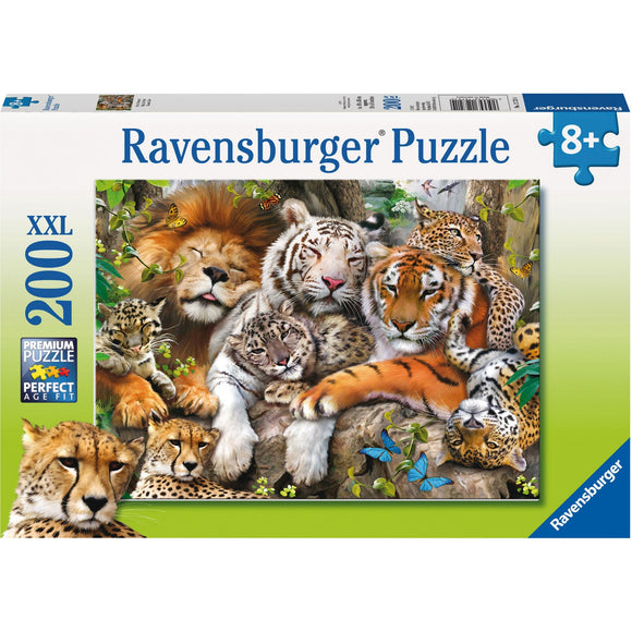 Ravensburger Big Cat Nap Puzzle 200pc - AnimalKingdoms.co.nz