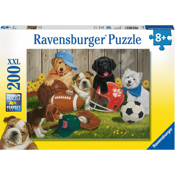 Ravensburger Let's Play Ball Puzzle 200pc-RB12806-8-Animal Kingdoms Toy Store