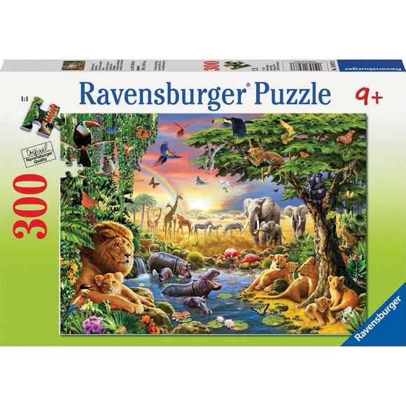 Ravensburger At the Watering Hole Puzzle 300pc-RB13073-3-Animal Kingdoms Toy Store