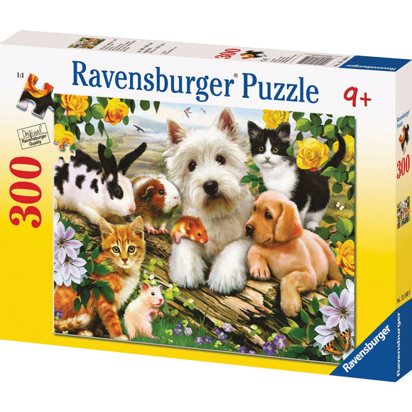 Ravensburger Happy Animal Babies Puzzle 300pc-RB13160-0-Animal Kingdoms Toy Store