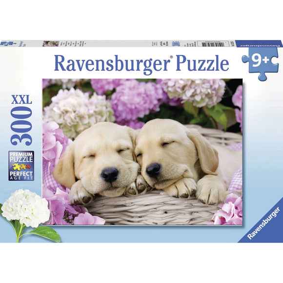 Ravensburger Sweet Dogs in a Basket Puzzle 300pc-RB13235-5-Animal Kingdoms Toy Store