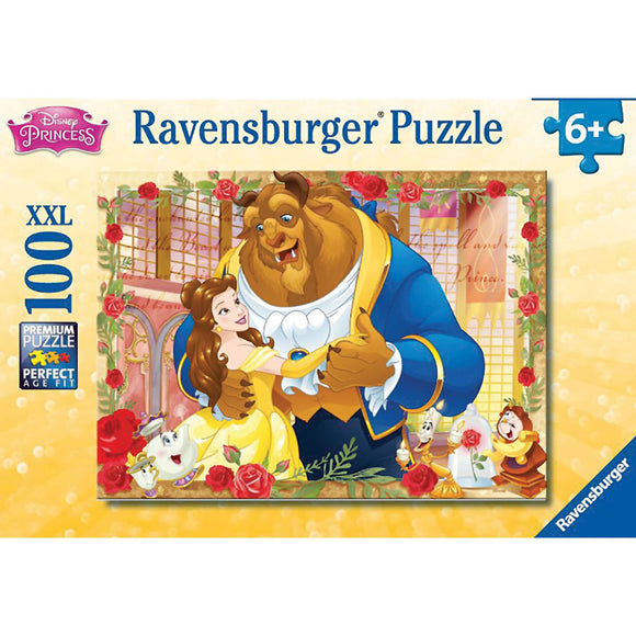 Ravensburger Disney Belle & Beast Puzzle GLITTER 100pc-RB13704-6-Animal Kingdoms Toy Store
