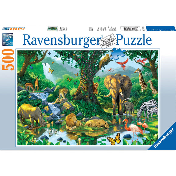 Ravensburger Harmony in the Jungle Puzzle 500pc - AnimalKingdoms.co.nz