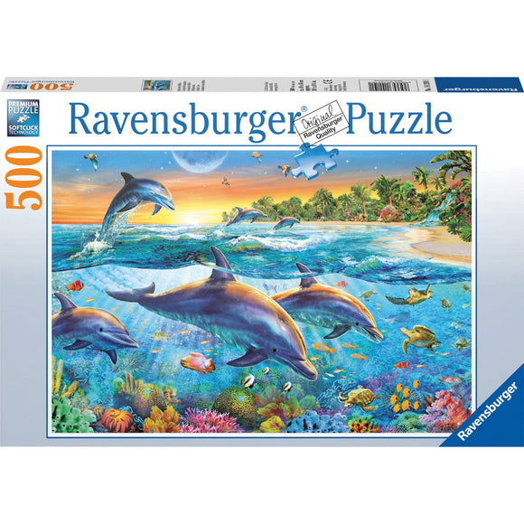 Ravensburger Dolphin Cove Puzzle 500pc - AnimalKingdoms.co.nz