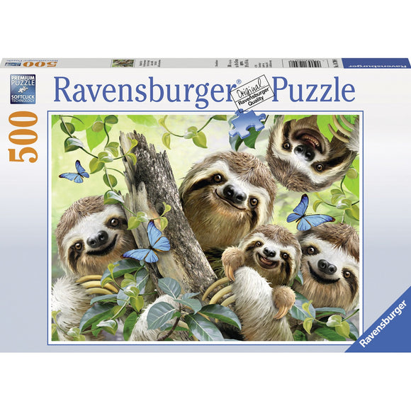 Ravensburger Sloth Selfie Puzzle 500pc - AnimalKingdoms.co.nz