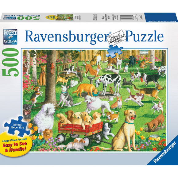 Ravensburger At the Dog Park Puzzle 500pc Large Format - AnimalKingdoms.co.nz