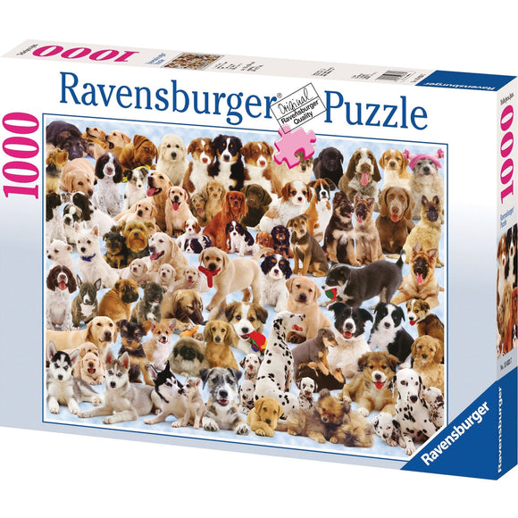 Ravensburger Dogs Galore! Puzzle 1000pc-RB15633-7-Animal Kingdoms Toy Store