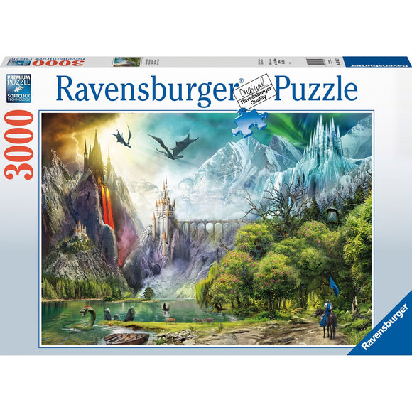Ravensburger Reign of Dragons 3000pc-RB16462-2-Animal Kingdoms Toy Store