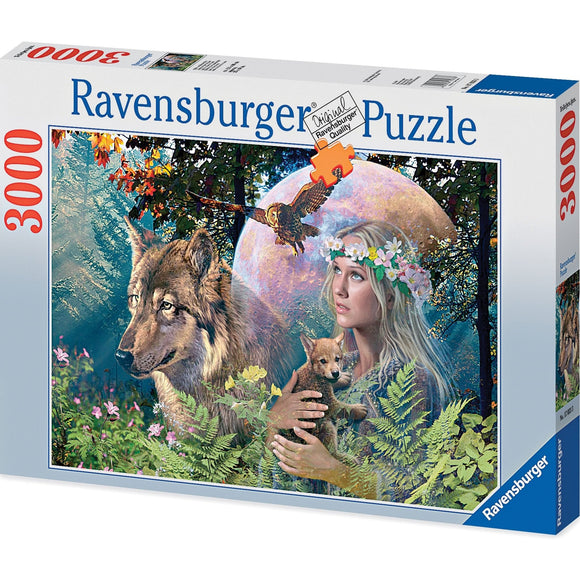 Ravensburger Lady of the Forest Puzzle 3000pc-RB17033-3-Animal Kingdoms Toy Store