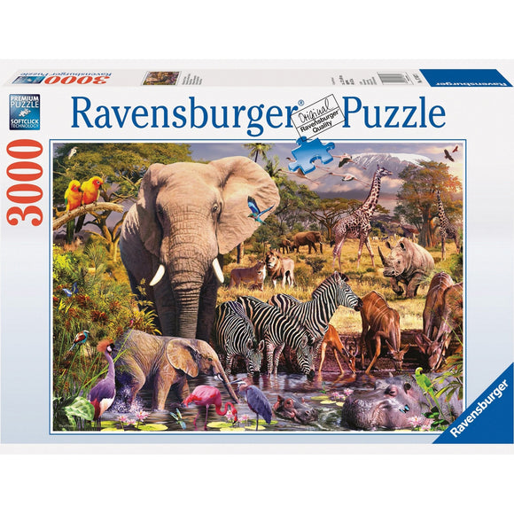 Ravensburger African Animal World Puzzle 3000pc-RB17037-1-Animal Kingdoms Toy Store