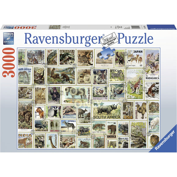 Ravensburger Animal Stamps Puzzle 3000pc-RB17079-1-Animal Kingdoms Toy Store
