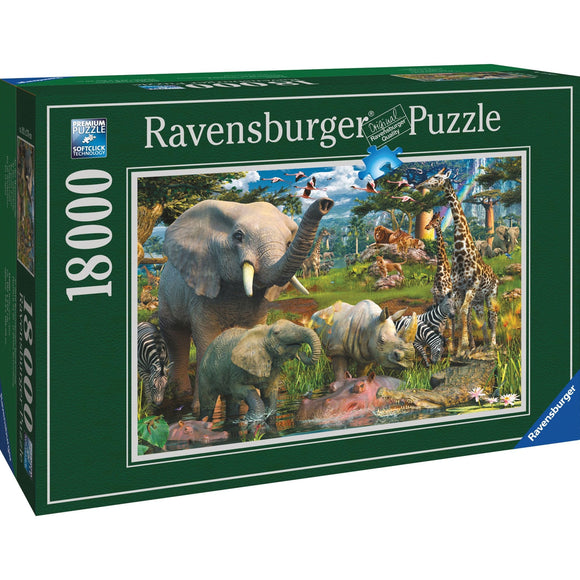Ravensburger At the Waterhole Puzzle 18000pc-RB17823-0-Animal Kingdoms Toy Store
