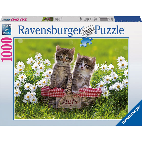 Ravensburger Picnic in the Meadow Puzzle 1000pc - AnimalKingdoms.co.nz
