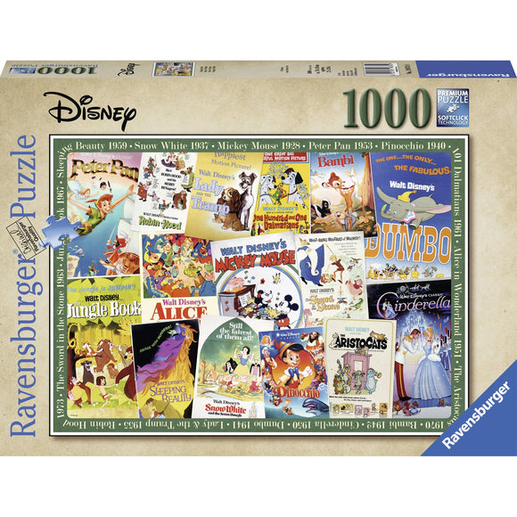 Ravensburger Disney Vintage Movie Posters Puzzle 1000pc-RB19874-0-Animal Kingdoms Toy Store