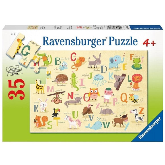 Ravensburger Puzzle A-Z Animals 35pc-RB08761-7-Animal Kingdoms Toy Store