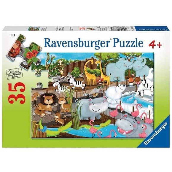 Ravensburger Day at the Zoo 35pc-RB08778-5-Animal Kingdoms Toy Store