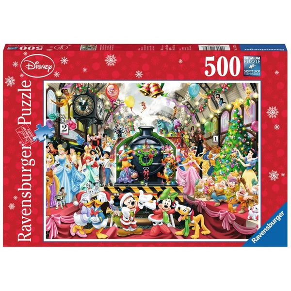 Ravensburger Disney Christmas Train Puzzle 500 pc-RB14739-7-Animal Kingdoms Toy Store